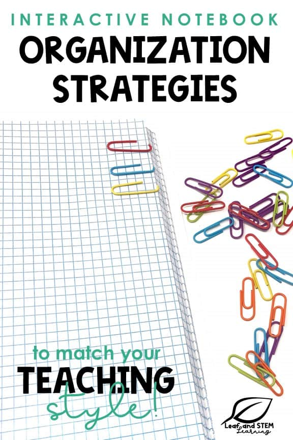 Interactive Notebook Organization Strategies