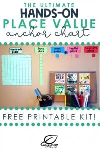 The ultimate hands-on place value anchor chart free printable kit