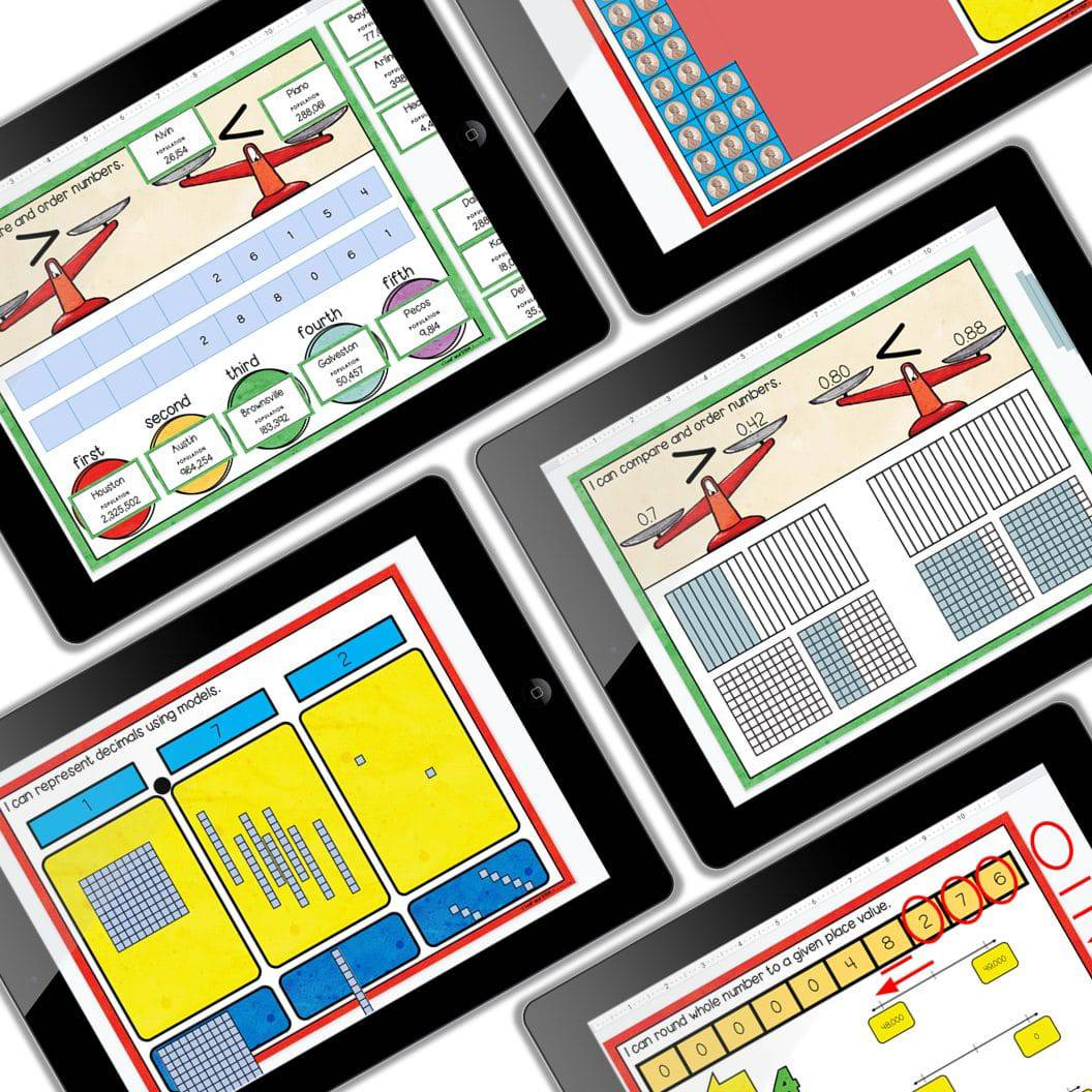 Digital Work Mats for Place Value