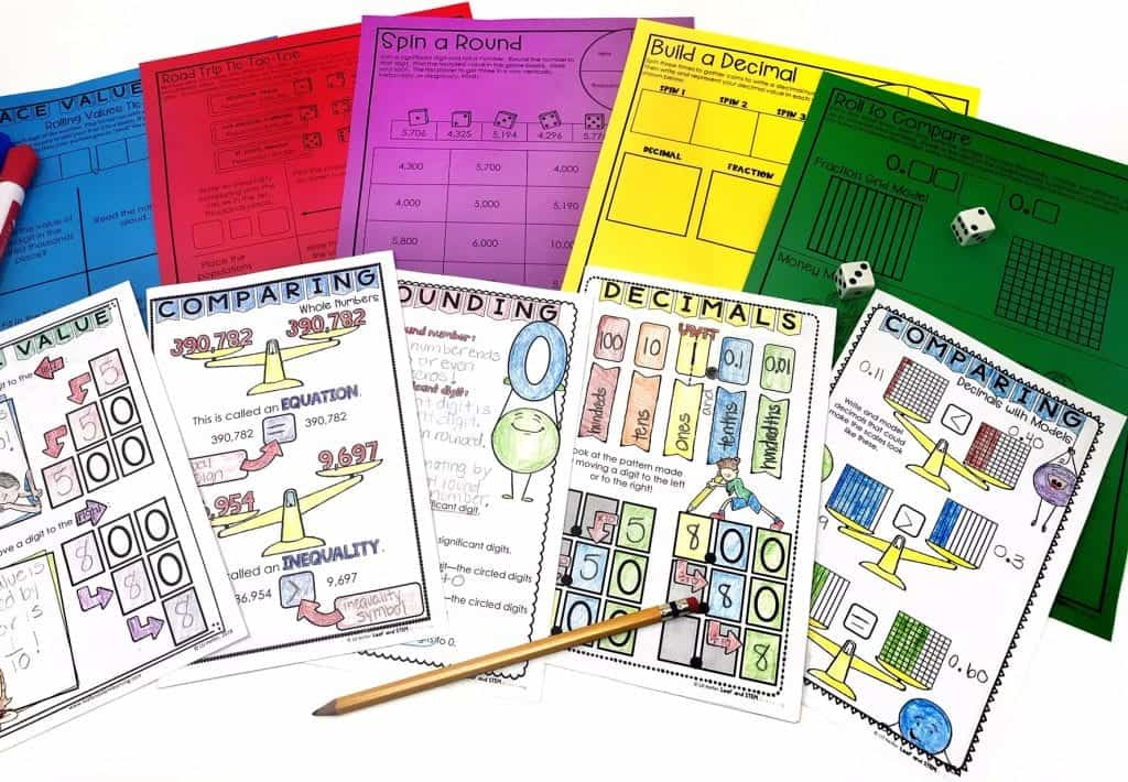 Place Value Lesson Plan Materials