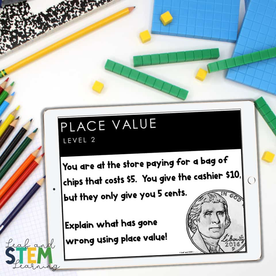 Place value speaking prompts